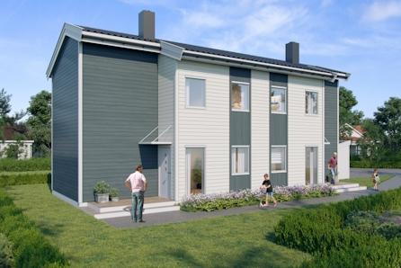 Halvparter i Fossegrenda! 2 sov, stor åpen stue/kjøkkenløsning. Møbelkampanje: Gavekort på 75000,- følger med!!