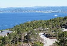 Utsikt mot Fosen og seilingsleden inn til Trondheim