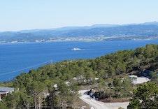 Utsikt mot Rissa og seilingsleia inn til Trondheim