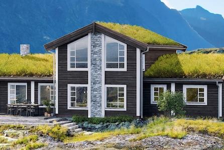 Prosjektert Høgvarde på stor naturtomt ved inngangen til Gjevillvassdalen, i Gjetberget. Nær skiløyper og vill natur.