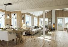 Høgvarde (illustrasjon) stue/kjøkken på hele 51 kvm
