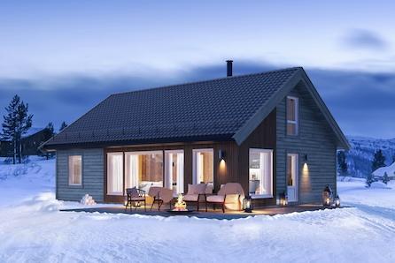 Oppdal/Stølen - Hytte med smarte løsninger på stor tomt like ved ski anlegg