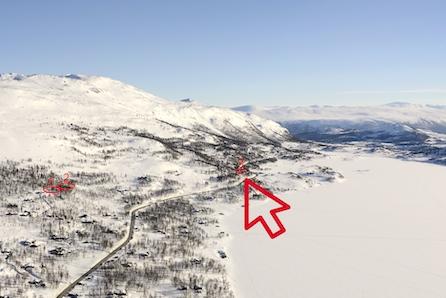 Prosjektert Storåsen som oppført råbygg, på tomt med lett adkomst ved Skarvatnet- Oppdal. Andre modeller kan velges.