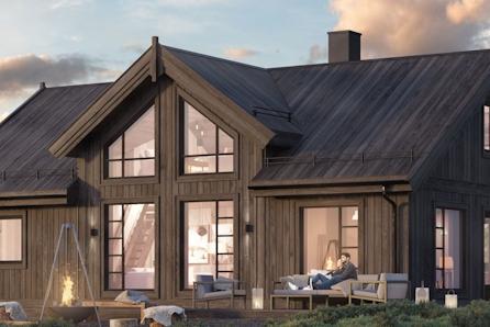 Ny hytte inkl tomt. 116m2 gulvareal ved Skarvatnet- Oppdal.