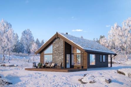 Prosjektert Gråhø på stor tomt rett ved skiløype og 10 minutter unna alpinbakken. Under to timer kjøretur fra Trondheim
