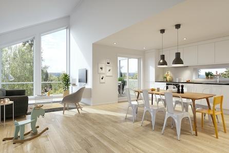 BØRSA | Nøkkelferdige boliger ved sjøen | 3 soverom | 2 bad | Integrert garasje | Sentral beliggenhet | 1 SOLGT