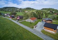 Velkommen til Håggåveien 41 i Børsa! Her har vi planlagt oppføring av Otra tomannsbolig (illustrasjon)