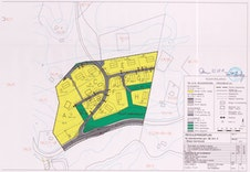 Reguleringskart for boligområdet.