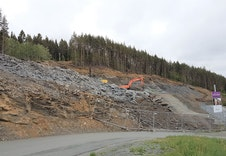 Opparbeidelse av tomtene på byggetrinn 1 i tomtefeltet BK2 er i full gang.
