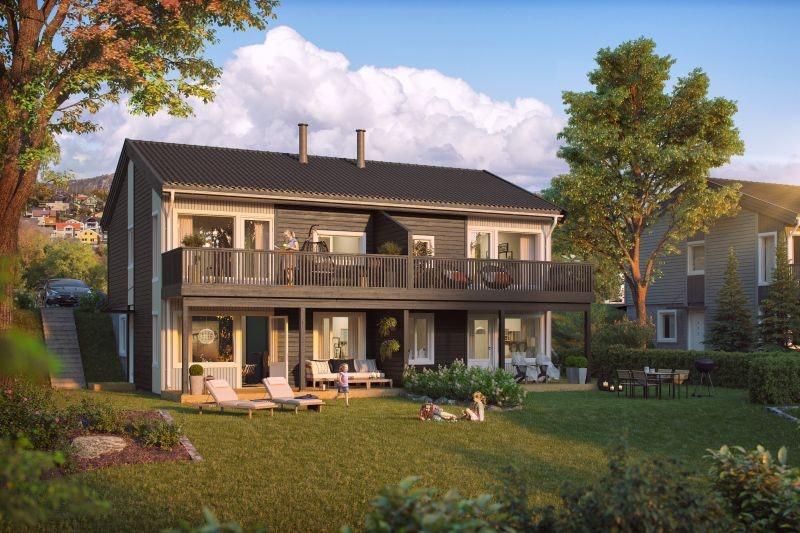 Hommelvik - MØBELKAMPANJE - Sentrumsnære boliger med 3 soverom, solrik terrasse og carport like ved idylliske Homla