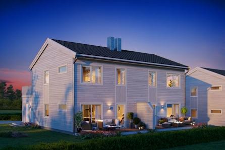 Hundhammeren - 1 solgt - Bygging startet hus B – Beliggende ved sjøen - 3 soverom, walk-in-closet, 2 bad