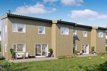 Saxeborgvegen 2! Moderne tomannsbolig med 2 stuer, 3 soverom og garasje.  attraktivt område med nærhet til sjøen.