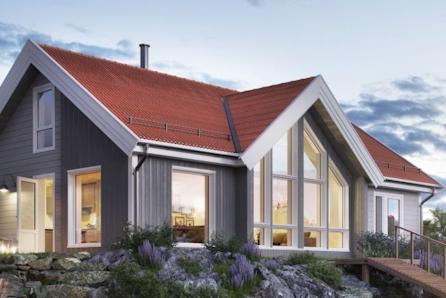 Prosjektert Nysetra på 1350 kvm utsiktstomt i Meråker- Fagerlia. 112 kvm gulvareal. Andre modeller kan også velges