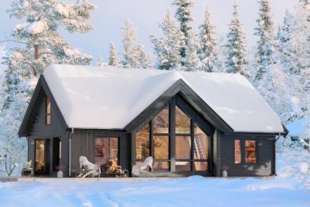 Utsiktstomter i Fagerlia, Meråker. Valgfri hytte fra Boligpartner. Perfekt for Alpin, langrenn, turer i fjellet