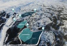 Oversikt av Fagerlia hytteområde  og Blåstøyten i bakgrunnen, se opplevfagerlia.no
