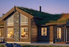 Prosjektert Midthø  (illustrasjon) bygges med torvtak og karakter-detaljer som framhever tradisjonelt handtverk. Andre hyttemodeller kan velges