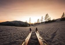 Milevis med preparerte skiløyper i høgfjellet og i skielitens spor. Se www.skisporet.no