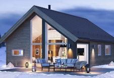 Kvarstad hyttemodell er prosjektert i dette eksemplet (illustrasjon). Andre modeller kan velges.