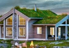 Midthø (illustrasjon) er et eksempel på egnet hyttemodell. Andre BoligPartner hyttemodeller kan velges. redigert