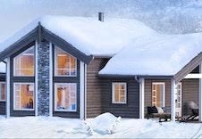 Midthø hyttemodell (illustrasjon) er prosjektert i dette eksemplet. Andre modeller kan velges. redigert