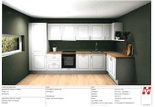 Kjøkkenet blir levert av HTH og det er muligheter for å gjøre endringer og tilvalg etter ønske