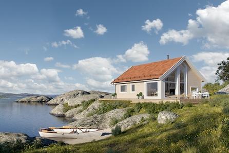 BETTEN-NESSET - Prosjektert familievennlig Kvarstad med 3 soverom og utsikt over sjøen og Tustnastabban.
