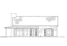 "Fasadetegning av hytten ""Flø"""