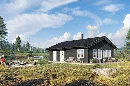 Prosjektert Ro1 hytte med 2 soverom.  Gode solforhold og panoramautsikt.