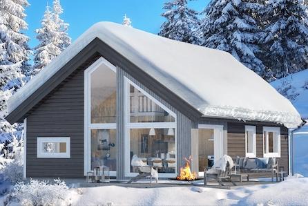 Prosjektert Kvarstad med 2 soverom og hems på solrik tomt med flott utsikt.