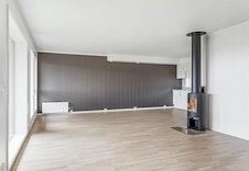 Meget romslig stue/kjøkkenløsning på 46 kvm