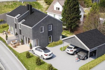 Sandnes | Moderne tomannsbolig med 3 soverom og 2 bad. Carport inkl.| Kort vei til skoler, barnehage og dagligvarebutikk