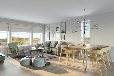 Pris fra 3.590.000,- Rossåstoppen, Figgjo - 6 Moderne innholdsrike rekkehus i salg nå! Visning etter avtale