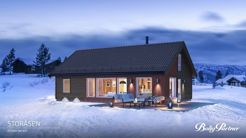 Tjøme/Åsen  - Prosjektert hytte på selveiertomt. Romslig hytte med stor hems. Hyttetype kan endres.