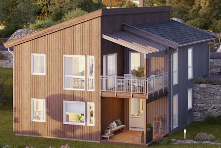 Gjekstad - Prosjektert moderne enebolig med blant annet 4 soverom og carport - familievennlig område - blindvei