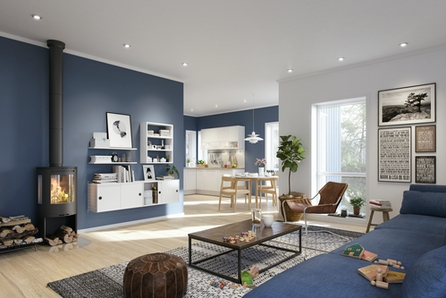 Spennende enebolig prosjekteres i nytt og solrikt boligfelt i Golbergsgutu av Bygg Team AS.