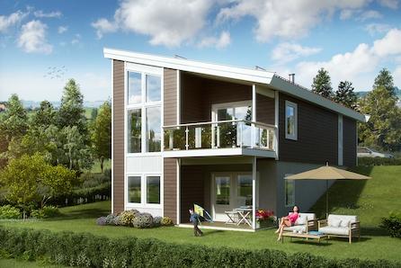 Mulighet for moderne familiebolig med utsikt mot Alverstraumen - 2 utsiktstomter igjen. Ta kontakt for visning.