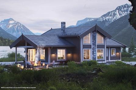 SLETTHØ - Nøkkelferdig hytte for storfamilien. Høg standard! Tomt, grunn- og betongarbeid, er inkludert!