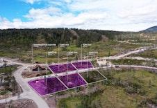 Tomter beliggende ved baseområdet, kr 1.100.000 til 1.150.000 + omk. Her er vår visningshytte Sletthø oppført.