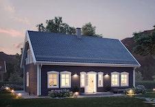 Bjørkli (illustrasjon)  Utvidet terrasseplatting, beplantning med mer, er ment som inspirasjon til hagearealer.