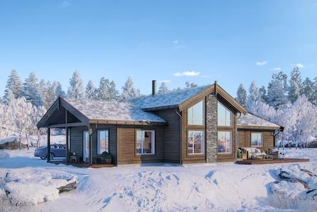 Veggli/Rustvegen Vest - Innholdsrik hytte med 4 soverom. Solrikt med flott utsikt mot Hardangervidda. Kan tilpasses.