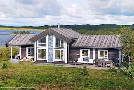 BUKKEHØ - Ny, komplett hytte ved skisenteret. Tomt, grunn- og betongarbeid, er inkludert!