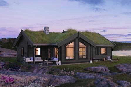 Veggli/Rustvegen Vest - Prosjektert hytte av modellen Bukkespranget på Rustvegen Vest.