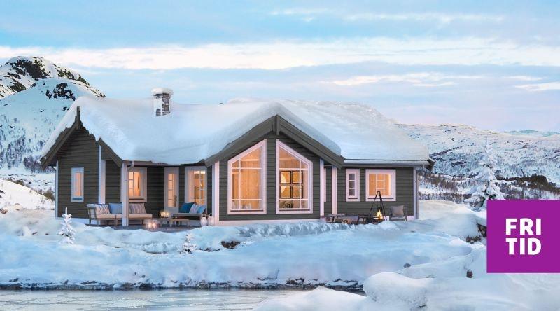Romslig, nøkkelferdig familiehytte ved Gålåvannet. Solrik, stor tomt og fin utsikt.  Langrennski in/out