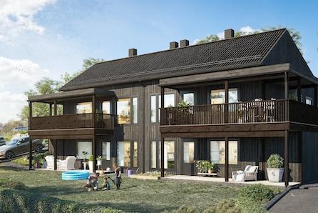 Moderne leiligheter med høy standard og flott utsikt over Ustedalsfjorden. Tilpasset et aktivt liv på fjellet.