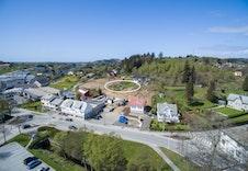 Bildet viser omtrentlig plassering av hvor boligene skal bygges