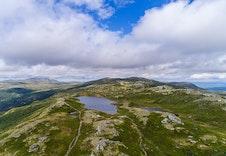 Dronebilde over Hardangervidda tatt fra Killingskaret