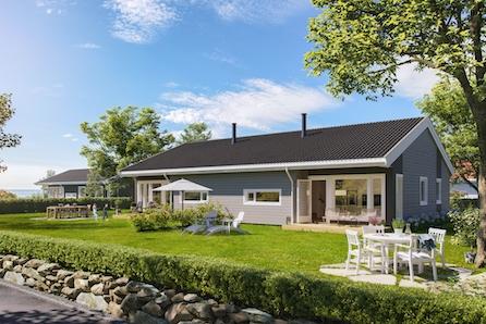 Moderne tomannsbustad på Ådland. Solrikt og sentrumsnært.  4 soverom, 2 bad og eige vaskerom.
