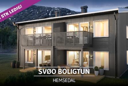 Vi er godt i gang med byggetrinn 2 - moderne og solrike leiligheter sentralt på Svøo. Kun 1 ledig!