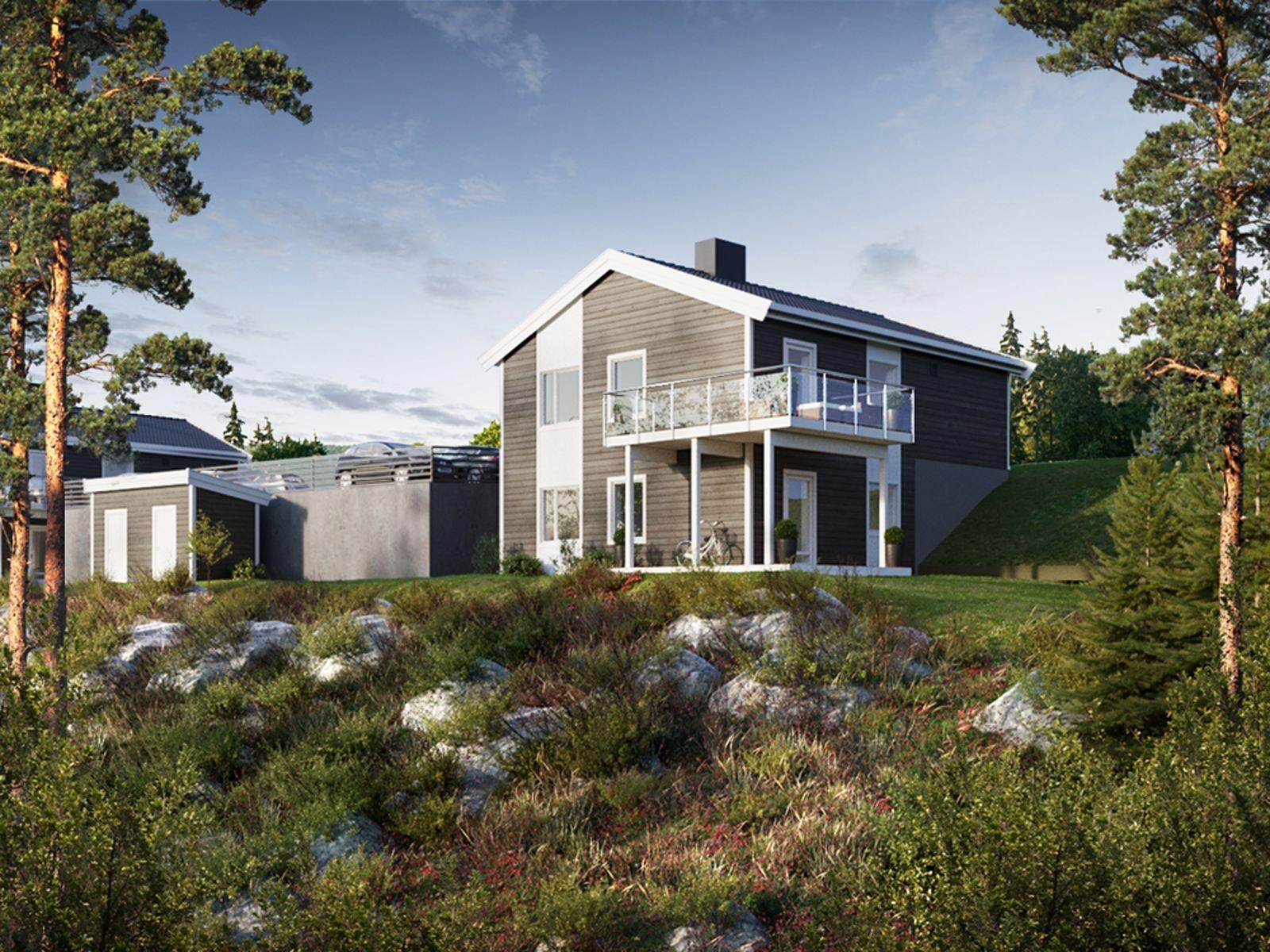 Flotte leiligheter med svært god solgang og utsikt. Rolig område med turstier rett ved tomten!