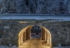 Portalen til Kongsvinger Festning som ligger i Øvrebyen.